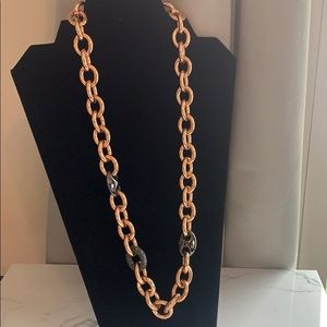 Jewelry - $10 SALE Chunky Gold & Black Chain Link Necklace